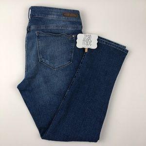 Mavi Jeans Angie Distressed Printed Skinny Jean 32